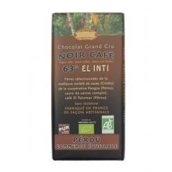 Hořká čokoláda s kávou BIO 63% kakaa 100g Salute Livi
