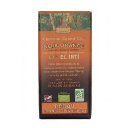 Hořká čokoláda s pomerančem BIO 63% kakaa 100g Salute Livi