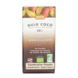 Hořká čokoláda s kokosem BIO 63% kakaa 100g Salute Livi
