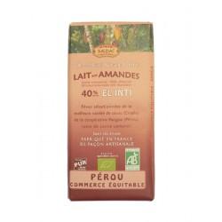 Mléčná čokoláda BIO s mandlemi 40% kakaa 100g Salute Livi