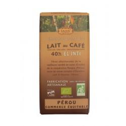 Mléčná čokoláda BIO s kávou 40% kakaa 100g Salute Livi