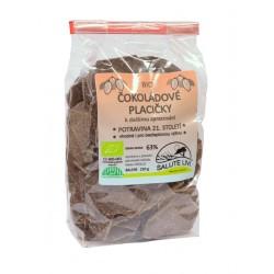 Čokoládové placičky hořké 63% BIO 250g Salute Livi