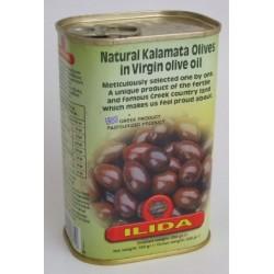 Olivy černé Kalamata v oliv. oleji 450g