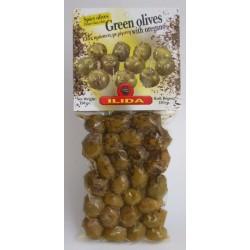 Olivy zelené s oregánem s peckou 150g